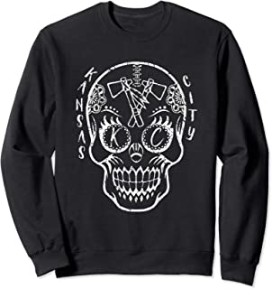 Kansas City Sugar Skull for Chiefs Fans Football Sweatshirt