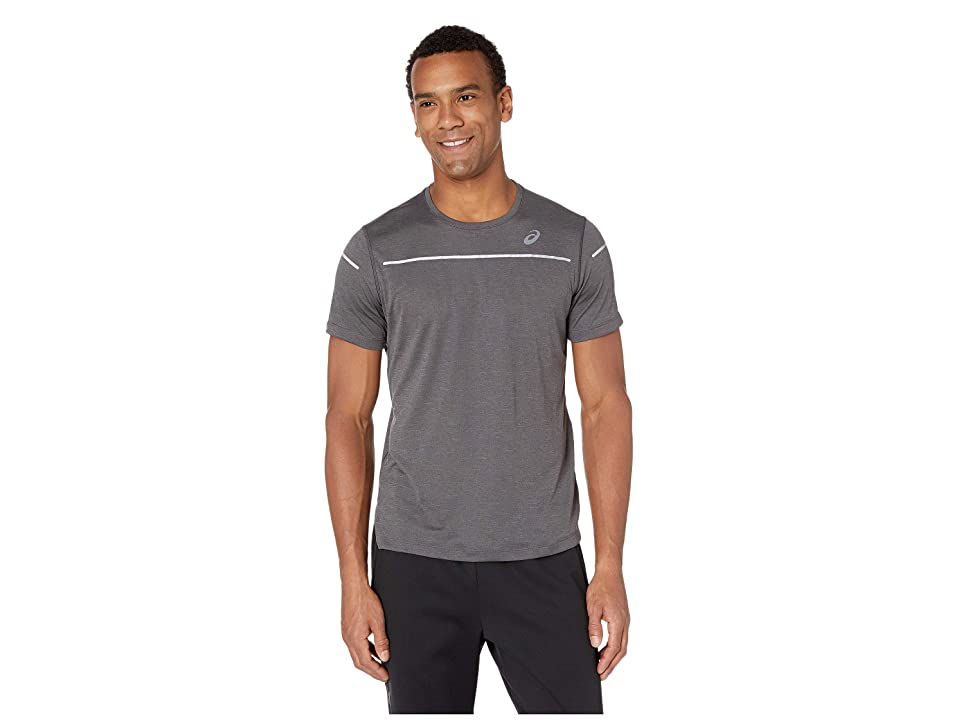 Image of ASICS Lite-Show Short Sleeve Top (Dark Grey Heather) Men's Clothing
