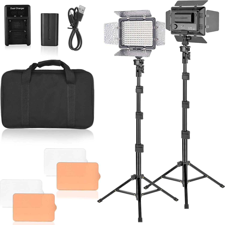 Super popular specialty 2021 store Emart LED Video Studio Light 176 Dimmable Panel Kit Lightin