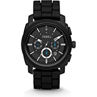 Men's Machine Stainless Steel and Silicone Chronograph Quartz Watch