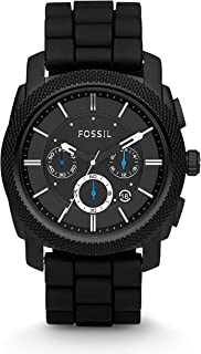 Fossil Men's Machine Analog Analog-quartz Black Watch, (FS4487)