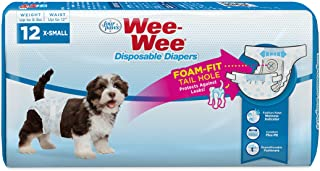 Four Paws Wee-Wee Disposable Dog Diapers 12 Count X-Small (100523064)