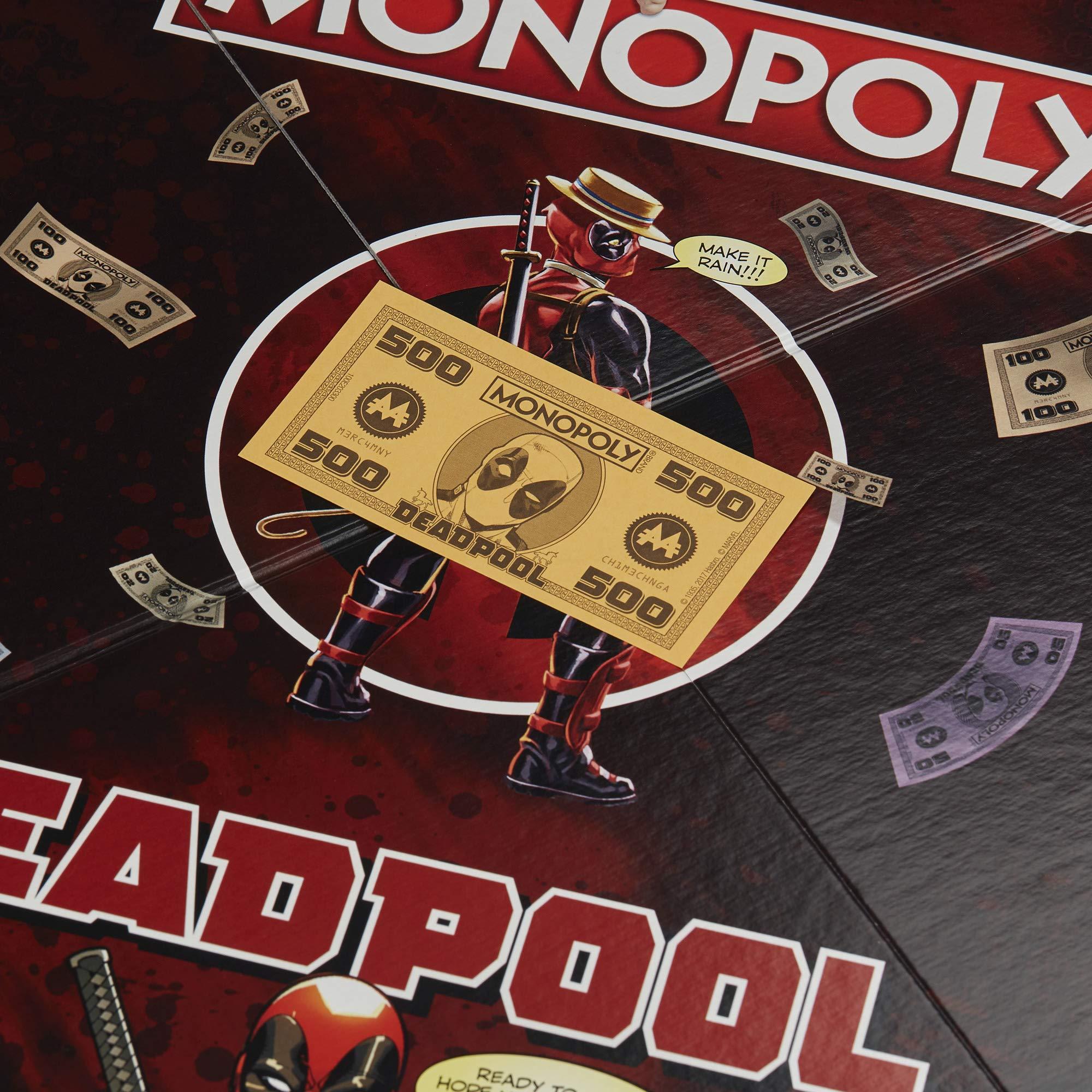 Hasbro Gaming E2033102 Juego del Monopoly, edición de Deadpool de Marvel (Idioma español no garantizado): Amazon.es: Juguetes y juegos
