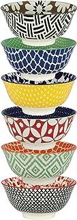 Certified International Soho Individual Porcelain Bowls, Set of 6, Multicolor