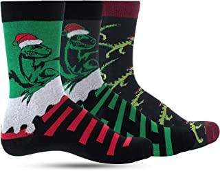 Dino Christmas Socks For Boys Crazy Dinosaur Socks For Kids: Boy Funny, Cool, Funky, Colorful Holiday
