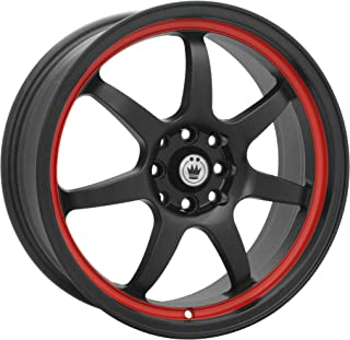 Konig Forward Black Red Stripe Wheel (17x7