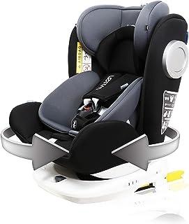 LETTAS Baby Autositz 360° drehbar Gruppe 01/2/3 0-36 kg/0-12 Year mit Protektoren seitliche Isofix Top Tether ECE R44/04