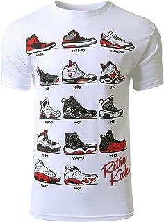 男式嬉皮者复古 Kicks Jordan 跑步印花 T 恤