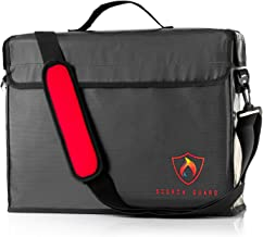 """Fireproof Document Bag/Safe – X Large Premium Updated Design, (16""""x12""""x5""""), Advanced Triple-layer Protection, Unique Large Opening, Interior Pockets, Fireproof and Water Resistant, 2000°F Protection"""
