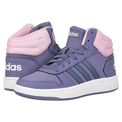 adidas Kids Hoops Mid 2 (Little Kid/Big Kid) (Raw Indigo/Tech Ink/True Pink) Kids Shoes