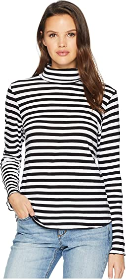 Stripe Long Sleeve Turtleneck