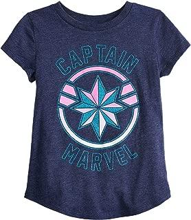 Little Girls' 4-12 Captain Marvel Shield Tee
