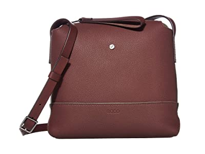 ECCO Jilin Tandem Small Crossbody (Aubergine/Moon) Cross Body Handbags