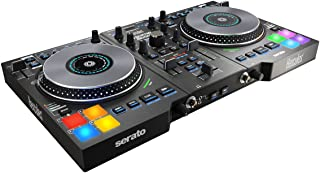 Hercules Djcontrol Jogvision 2-Channel USB DJ Controller with Animated In-Jog LED Displays & Motion-Sensor Effects for Ser...