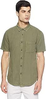 Indian Terrain Men's Solid Slim Fit Casual Shirt