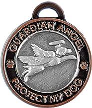 ياقة من تريفثالات الأثيلين المتعدد PET luxepets سحر ، عليه Angel Dog ، بلون فضي/نحاسي