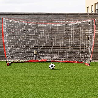 GOPLUS Portable Soccer Goal, Foldable Bow Style Net and Net Metal Base Quick Setup Easy Storage, Outdoor Indoor Training Soccer Goal with Carry Bag