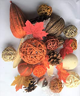 Wreaths For Door Orange Rattan Decorative Spheres Natural Twig Balls and Botanical Pods Vase Or Bowl Filler Traditional to Farmhouse