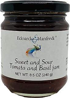 Jelly - Organic Sicilian Jam -Sweet and Sour Tomato and Basil - 1 jar 8.5 oz