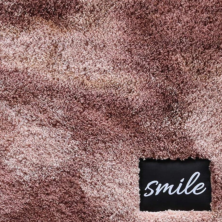 最小化する義務づける急流玄関マット 洗えるラグ 低反発 ラグマット ふわふわ 50×80cm 足拭きマット 浴室カーペット 無地 滑り止め 吸水 速乾 長方形 円形 半円 フロア バス キッチン 絨毯カーペット 床暖房対応 ブラウン