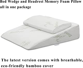 InteVision Extra Large Foam Bed Wedge Pillow (33