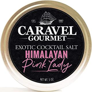 Pink Lady Exotic Cocktail Salt - All-Natural Glass Rimmer & Finishing Pink Salt, from the Himalayan Mountains, Ground Extra Fine - No MSG, Non-GMO, Gluten-Free - 5 oz. Stackable Tin