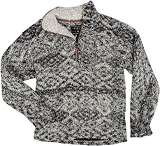 True Grit Women's Frosty Tipped Pile 1/4 Zip Pullover