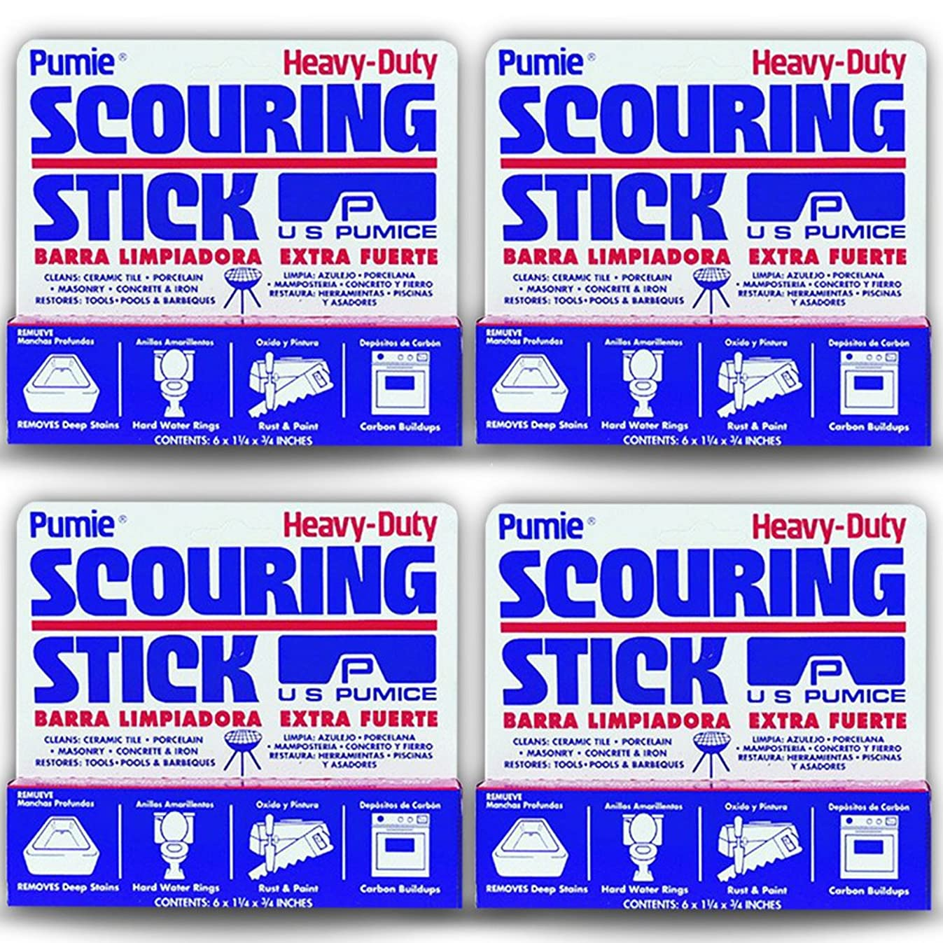 U.S. Pumice 1001 Scouring Stick (4 Pack)