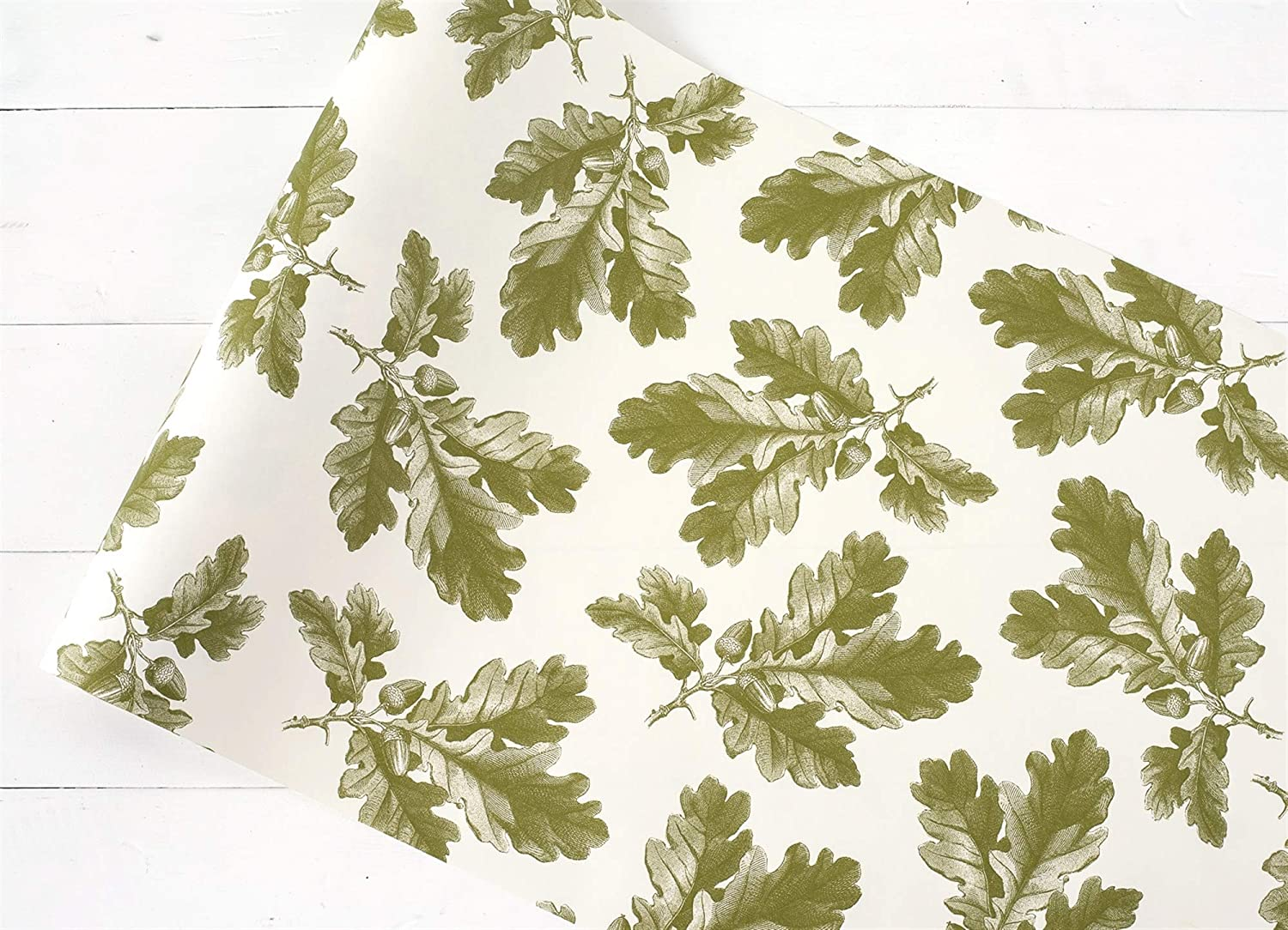 Tampa Mall Kitchen Papers Green Oak Leaf 20