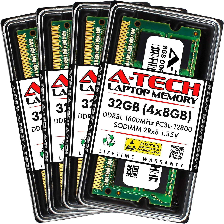 Ranking TOP9 New popularity A-Tech 32GB 4x8GB DDR3 DDR3L SODIMM 1600MHz PC3 PC3L-12800
