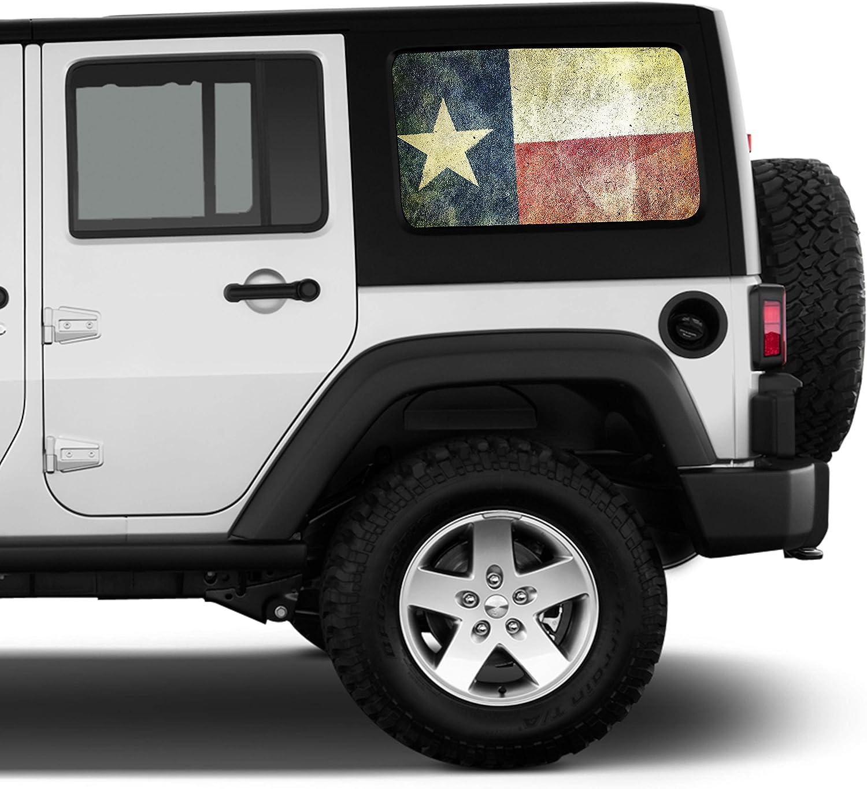 Rear Only Precut Window Tint For Jeep Wrangler 2 Door 2011-2017