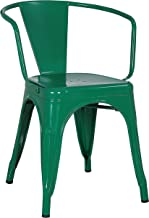 Poly and Bark Trattoria Arm Chair in Dark Green