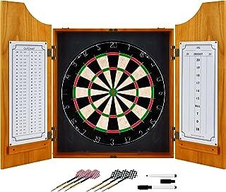 商標Gameroomソリッド木製Dart Cabinetセット
