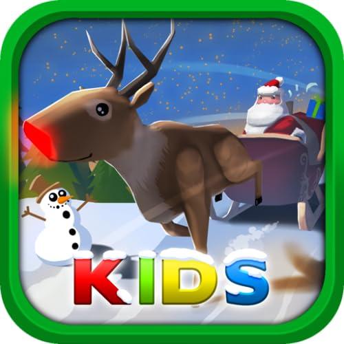 Santa Claus: Christmas Gifts Kid - 3D Sleigh Driving Game
