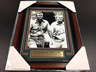 REPRINT ARNOLD PALMER JACK NICKLAUS AUTOGRAPHED REPRINT GOLF 8X10 PHOTO FRAMED