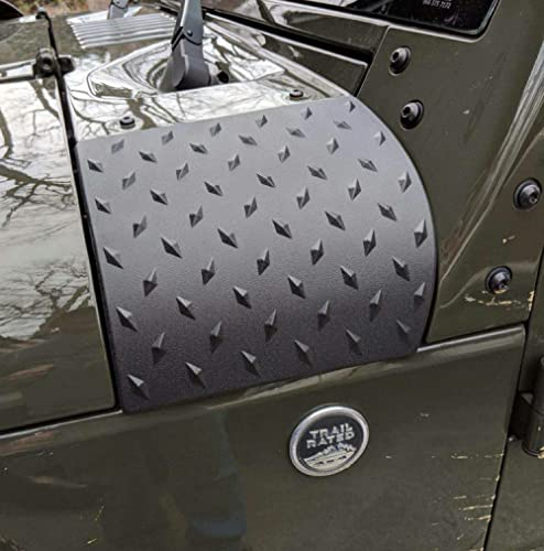 MOEBULB Cowl Body Armor Powder Coated Finish Outer Cowling Cover Compatible for Jeep Wrangler JK Rubicon Sahara Sport...