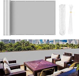 Molbory Brise-vue pour balcon - Imperméable - Toile de balcon opaque - Protection contre le vent et les UV - Imperméable -...