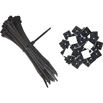 50 x attaches de câbles 200 x 3.6 mm Stick de montage Clips