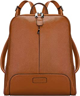 Women Genuine Leather Backpack Purse Travel Bag Upgraded 3.0