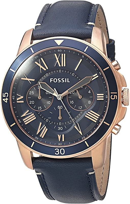 FS5237 Rose Gold Blue Leather