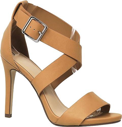 MVE schuhe damen Criss Cross Lace Heeled Sandals with A Thin Heel