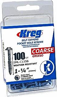 Kreg SML-C125B-100 Blue-Kote WR Pocket Screws - 1-1/4-Inch, 100 pack