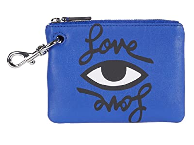 Rebecca Minkoff Clip Pouch Love Eye (Bright Blue) Handbags