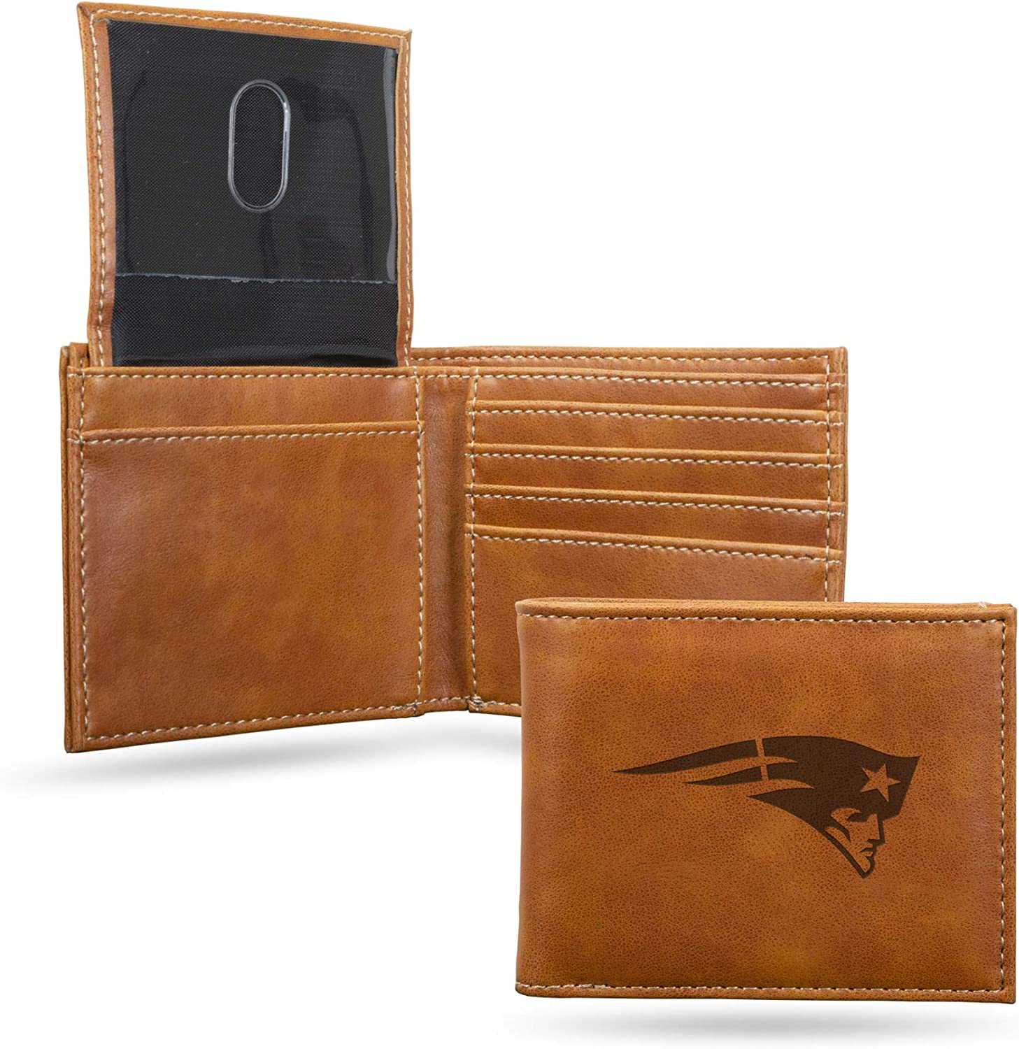 NFL 2021 Free Shipping Cheap Bargain Gift autumn and winter new Rico Industries Laser Engraved Wallet New Billfold England
