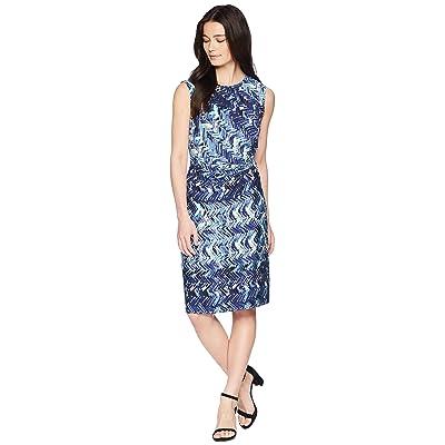 NIC+ZOE Petite Seaside Tile Dress (Multi) Women