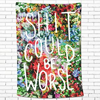 Sunm Boutique Watercolor Wall Tapestry Flower Tapestry Floral Tapestry Wall Hanging Tapestry Wall Decor Inspirational Quot...