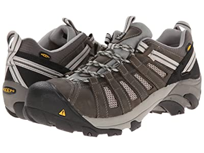 Keen Utility Flint Low Steel Toe (Gargoyle/Forest Night) Men