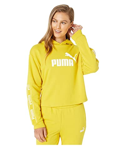 PUMA Amplified Cropped Hoodie (Sulphur) Women