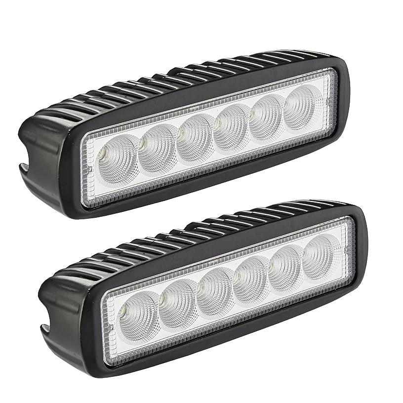 LED Light Bar, Northpole Light 2x 18W Flood Work Light Strip, Jeep Off-road Light Bar, Driving Fog Light IP67 Waterproof for Off-road, Truck, Car, ATV, SUV, Jeep