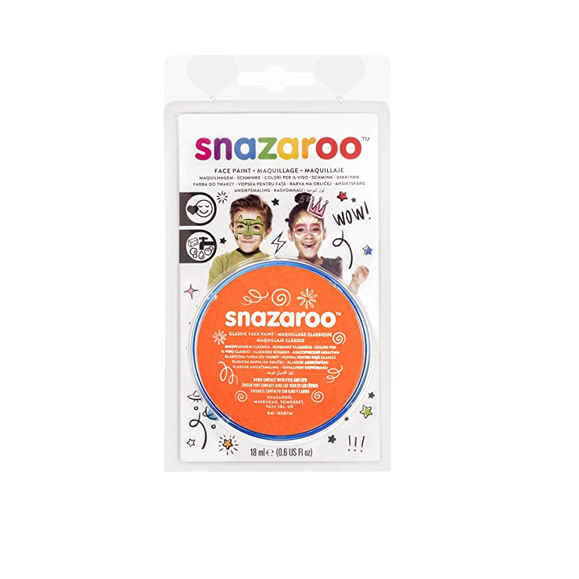 Snazaroo Face Paint 18ml Clam Pack Color - Orange